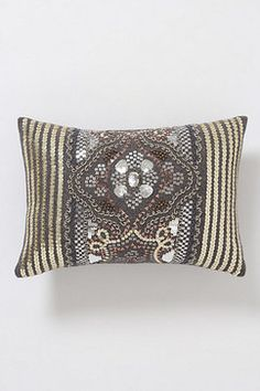 Sequined Fairisle Pillow, Small Rectangle eclectic pillows