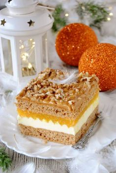 Pomarańczowy miodownik - PrzyslijPrzepis.pl Food Cakes, Homemade Cakes, Other Recipes, Yummy Cakes, Christmas Cookies, Vanilla Cake, Nutella, Cake Recipes, Sweet Tooth