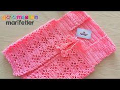Super easy Crochet Pattern for Baby Cardigan - Harika El işleri-Hobiler Baby Knitting Patterns, Baby Cross Stitch Patterns, Crochet Rug Patterns, Knitting Designs, Baby Cardigan, Cardigan Bebe, Crochet Baby Jacket, Crochet Pillow, Crochet Girls
