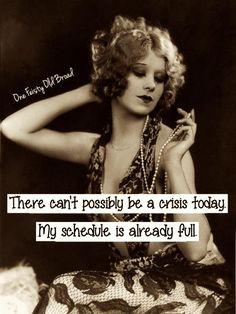 No crisis today please!