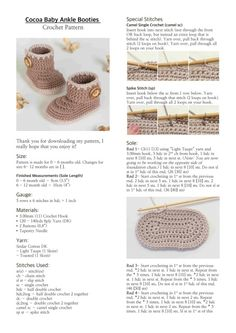 Everyone loves a good crochet baby booties pattern and this collection is filled with sweet ideas that are perfect for a newborn. Page 1 of 2 - Salvabrani Crochet Baby Boots, Crochet Baby Sandals, Knit Baby Booties, Booties Crochet, Crochet Baby Clothes, Newborn Crochet, Crochet Slippers, Ankle Booties, Knitted Baby