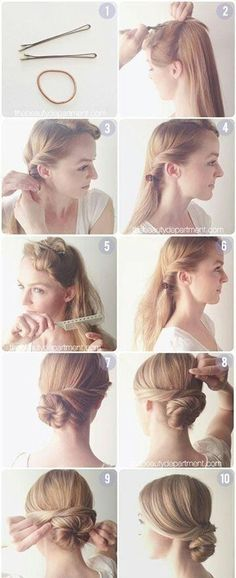 Long hair updo style tutorial