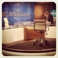Charlie Rose already on set at a. for CBS This Morning. Studio 57, Charlie Rose, On Set, Core, Instagram Posts, Beauty, Cosmetology