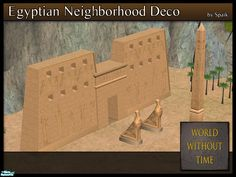Decorate your neighbourhoods in the theme of Ancient Egypt. All meshes are low poly.  Found in TSR Category 'Objects'