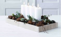 For each Christmas holiday, many people look for House Christmas Decorations tips for their apartment. Christmas Candles, Christmas Carol, Christmas 2017, White Christmas, Christmas Holidays, Christmas Crafts, Navidad Natural, Fresco, Christmas Interiors