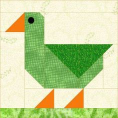Duck block pattern - see quilt I made from this on My Quilting board