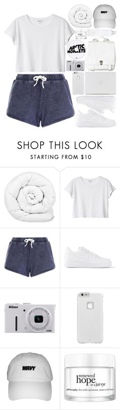 """do i wanna know?"" by presmei ❤ liked on Polyvore featuring Brinkhaus, Monki, New Look, NIKE, Nikon, Case-Mate, Proenza Schouler, philosophy, tumblr and fashionset"