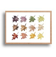 Autumns hues Art print  fall leaves watercolor by TheJoyofColor