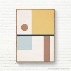 Minimal Geometric Wall Art, Original Digital Art, Abstract P Abstract Geometric Art, Abstract Wall Art, Abstract Print, Minimal Art, Mid Century Art, Art Moderne, Concept Art, Illustration Art, Prints