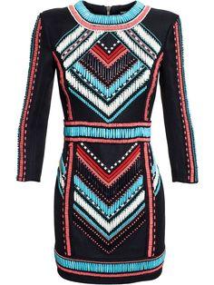 Balmain Embellished Mini Dress - Browns - Farfetch.com