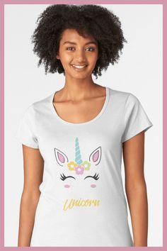 Unicorn Shirt Girl / Unicorn Face / Unicorn Tshirt for Woman / Graphic Tees Ideas   #unicornshirt #unicorngirl #graphictee