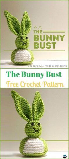 Amigurumi Crochet Bunny Bust Free Pattern - Crochet Amigurumi Bunny Free Patterns