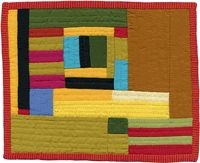 """My favorite of the newest Andrea Balosky quilts at the Alzheimer's Art Quilt Initiative.  It's titled, """"Lost Poem""""."""
