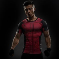 Deadpool Compression Shirt – Novelty Force - Grab yourself one today while supplies last! #deadpool #antihero #marvel