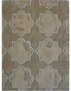 Arto Concrete Tile - BB151-Pattern 8c Old Artillo & Old California Limestone-Grout Used: Laticrete 85 Almond