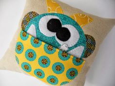 """Free pattern for """"Manfred the Monster"""" Tooth Pillow ::: Just Another Hang Up. One of my favoite sewing blogs :) Can't wait to make this for Emma and Chris."""