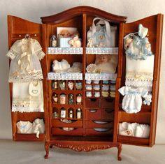 Children's clothing armoire #miniature