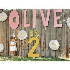 cute birthday signage - paper on a fence