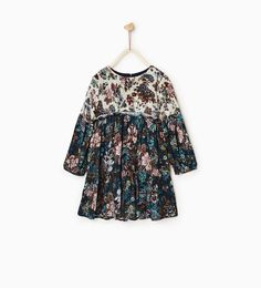 DRESS WITH CONTRASTING FLOWERS-DRESSES-GIRL | 4-14 years-KIDS-SALE | ZARA United States