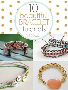 Many Beautiful Bracelet Tutorials and a bracelet sizing guide chart.