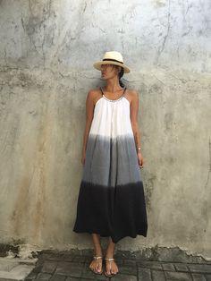 Teñido vestido Maxi, vestido de verano, prengnant mujer, vestido cómodo, festival, boho, playa cubierta, teñido, hogar