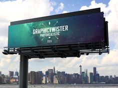 Nex view of outdoor Billboard Mockup. Share you design on big billboard, you can change background and position of billboard. Billboard Mockup, Billboard Design, Web Design, Tool Design, Graphic Design, Design Ideas, Design Inspiration, Mockups Gratis, Template Site