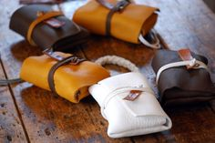 Teeny Tiny leather bags! Adorable!