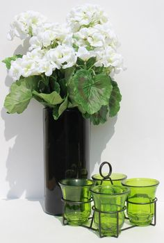 Candleinfinity Vintage Green Four Candle Set