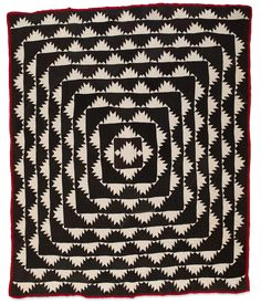 Delectable Mountains quilt, circa collection of Eleanor Bingham Miller at the Speed Art Museum (Kentucky) Old Quilts, Antique Quilts, Vintage Quilts, Amish Quilts, Textile Patterns, Quilt Patterns, Textiles, Doll Patterns, Speed Art Museum