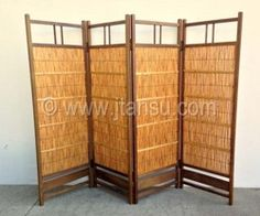 Japanese Bamboo Room Divider or Screen