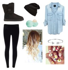 Lazy day by bandgeek0102 on Polyvore featuring polyvore, moda, style, UGG Australia, Bling Jewelry and Eos