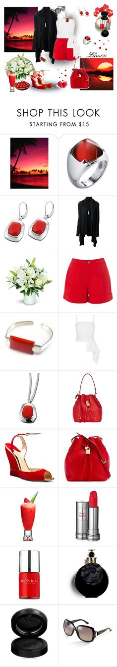 """""""sunset"""" by lumi-21 ❤ liked on Polyvore featuring Baccarat, Rick Owens, MDS Stripes, Dolce&Gabbana, Paul Andrew, Lancôme, Nails Inc., Valentino, GAB and Gucci"""