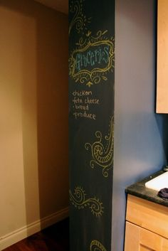 birch & lily, Chalkboard Paint Wall: a Mom-friendly Project