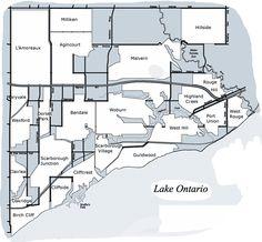Scarborough Map #Scarborough