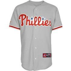 MLB Men's Philadelphia Phillies Replica Baseball Jersey, Road Gray --- http://www.pinterest.com.welik.es/49c