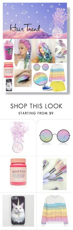 """""""Unicorn"""" by kalli124 ❤ liked on Polyvore featuring In Your Dreams, Sunday Somewhere, Lime Crime, Mary Katrantzou and Converse"""