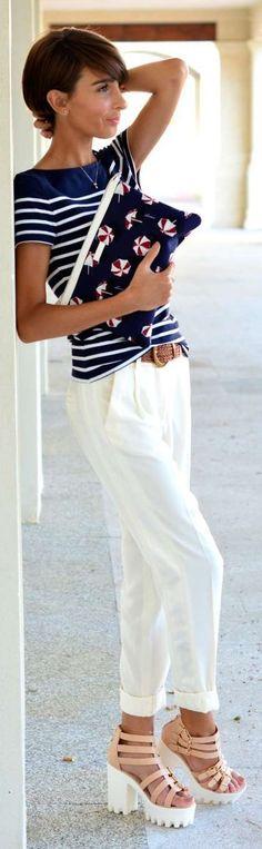 Claudia Blush/white Strappy Platform Sandals by Divina Se Nace