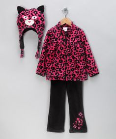 Take a look at this Pink Zip-Up Fleece Jacket Set - Infant & Toddler by Nannette on #zulily today!