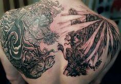 1cf102b72 Good Vs Evil Tattoo Drawings - Invitation Templates Evil Tattoos, Bad  Tattoos, Great Tattoos