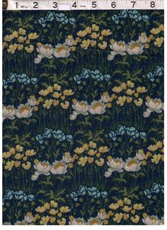 HALF YARD Yuwa -  LAWN - Blue, Yellow, and White Flowers - Live Life Collection Japanese Import by fabricsupply on Etsy Japanese Imports, Lawn Fabric, Live Life, Blue Yellow, White Flowers, Unique Jewelry, Yard, Etsy, Vintage