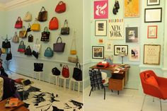 Kate Spade Pop-up shop Interior-miren los marcos...