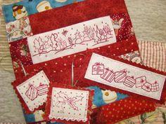 Christmas Trees Holly Hand Embroidery - via @Craftsy