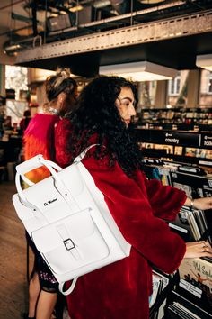 The White Kiev backpack, worn by the ConfettiCrowd.