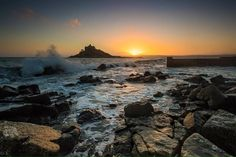 SUNSET (26 January 2016): St Michael's Mount, Cornwall ✫ღ⊰n