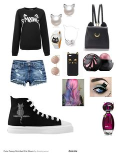 """""""MEOW"""" by yulee123 on Polyvore featuring WithChic, Skinnydip and MANGO"""