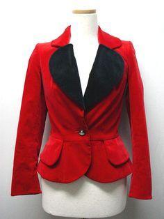 Vivienne Westwood Heart Lapel Jacket (rare vintage), as seen in Nana manga/anime on main character punk singer Nana