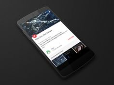 YouTube / Android L by James Sterling