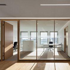 Open Office Design, Industrial Office Design, Office Interior Design, Glass Office Partitions, Glass Partition Wall, Corporate Interiors, Office Interiors, Living Room Tv Unit Designs, Office Setup