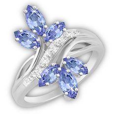 Blooming Tanzanite & Diamond Ring - The Danbury Mint