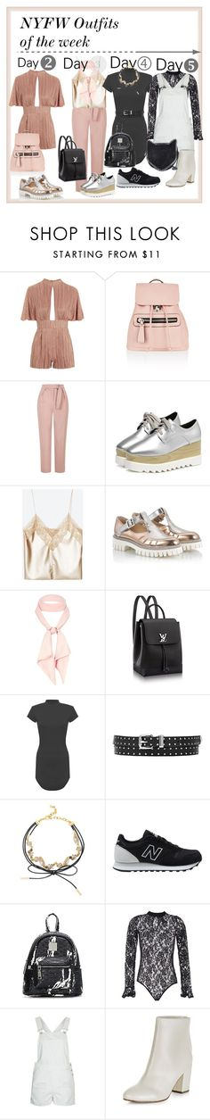 """""""NYFW 2016 Style: OOTW"""" by darling-ange1 ❤ liked on Polyvore featuring Accessorize, Topshop, Alberto Guardiani, River Island, WearAll, BaubleBar, New Balance, New Look and STELLA McCARTNEY"""
